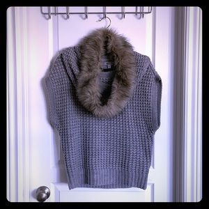 J-Lo Sweater with faux fur neck